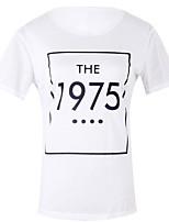preiswerte -Damen Buchstabe T-shirt, Rundhalsausschnitt