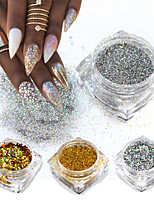 cheap -8pcs Glitter Powder Elegant & Luxurious Glitter & Sparkle Nail Art Tips Nail Art Design