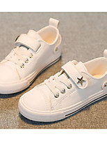cheap -Girls' Boys' Shoes Leatherette Spring Fall Comfort Sneakers for Casual White Black Pink