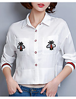 cheap -Women's Basic Shirt Shirt Collar