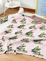 cheap -Knitted, Reactive Print Cartoon Polyester/Polyamide Blankets