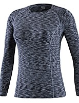 cheap -Women's Running T-Shirt Long Sleeve Breathability T-shirt for Exercise & Fitness Polyester Red / Blue / Grey L / XL / XXL