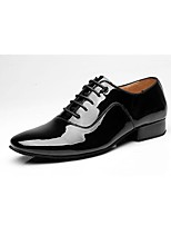 cheap -Men's Modern Patent Leather Oxford Indoor Chunky Heel Black Customizable