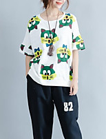 abordables -Tee-shirt Femme,Animal Chic de Rue