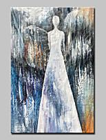cheap -Hand-Painted Abstract People Vertical, Modern Canvas Oil Painting Home Decoration One Panel
