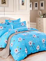 cheap -Duvet Cover Sets Floral 3 Piece Poly/Cotton 100% Cotton Reactive Print Poly/Cotton 100% Cotton 1pc Duvet Cover 1pc Sham 1pc Flat Sheet