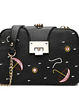 cheap -Women's Bags PU Shoulder Bag Buttons for Casual All Seasons Black