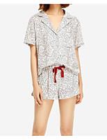 abordables -Col de Chemise Ultra Sexy Pyjamas Femme Fleur