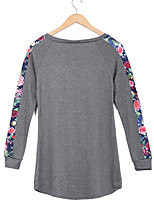 cheap -Women's Basic Cotton T-shirt - Florals, Modern Style Basic