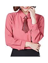 cheap -Women's Blouse - Solid Shirt Collar