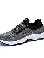 preiswerte -Herrn Schuhe Gestrickt Frühling Sommer Komfort Sneakers für Normal Draussen Schwarz Grau