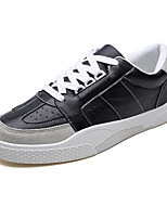 cheap -Men's Shoes PU Spring Fall Light Soles Sneakers for Casual White Black