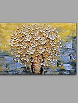 Недорогие -Ручная роспись Натюрморт Цветочные мотивы/ботанический Горизонтальная, Современный Modern холст Hang-роспись маслом Украшение дома 1