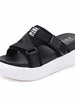 cheap -Women's Shoes Fabric Summer Comfort Slippers & Flip-Flops Flat Heel Round Toe for Casual White Black Red