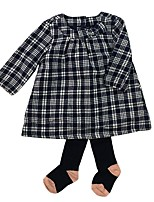 cheap -Baby Girls' Daily Striped Clothing Set, Cotton Spring Fall Simple Chinoiserie Long Sleeves Royal Blue
