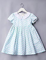cheap -Girls' Cute Striped Dress