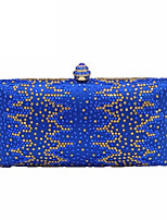 cheap -Women's Bags Metal Evening Bag Crystal Detailing for Wedding Event/Party All Seasons Blue
