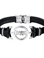 preiswerte -Herrn Armband Freizeit Cool Leder Aleación Herz Schmuck Alltag Verabredung Modeschmuck