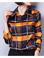 cheap -Women's Basic Cotton Shirt Shirt Collar
