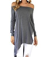 preiswerte -Damen Solide T-shirt,Schulterfrei Schlank