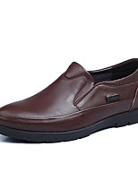 cheap -Men's Shoes Cowhide Spring Fall Comfort Loafers & Slip-Ons for Casual Black Brown