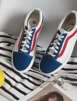 abordables -Homme Chaussures Toile Printemps Automne Confort Basket pour Décontracté Blanc/Bleu
