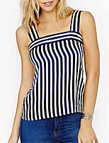cheap -Women's Active T-shirt - Striped Strap
