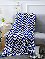 cheap -Knitted, Reactive Print Geometric Cotton Blankets
