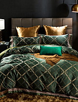cheap -Duvet Cover Sets Geometric Pattern 4 Piece Poly/Cotton Polyster Reactive Print Poly/Cotton Polyster 1pc Duvet Cover 2pcs Shams 1pc Flat