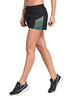 cheap -Women's Running Split Shorts Fast Dry Breathability Lightweight Shorts Exercise & Fitness Running Polyster White Yellow Green Grey