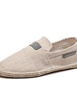 cheap -Men's Shoes Cotton Canvas Summer Fall Espadrilles Moccasin Loafers & Slip-Ons for Casual Office & Career Black Beige Gray