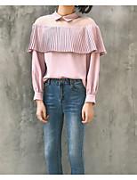 preiswerte -Damen Bluse, Rundhalsausschnitt Baumwolle