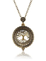 Недорогие -Муж. Многослойный Ожерелья с подвесками - Дерево жизни Крупногабаритные Античная бронза Ожерелье Бижутерия 1 Назначение Вечеринка / ужин, Для вечеринок