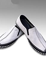 abordables -Homme Chaussures Cuir Eté Confort Mocassins et Chaussons+D6148 pour Décontracté Blanc Noir