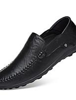 Недорогие -Муж. обувь Кожа Наппа Leather Весна Осень Удобная обувь Мокасины и Свитер для Повседневные Черный Темно-русый Темно-коричневый