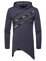cheap -Men's Chinoiserie Hoodie - Color Block, Ripped
