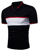 cheap -Men's Business Basic Plus Size Polo - Color Block Shirt Collar