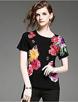 cheap -Women's Street chic T-shirt - Floral