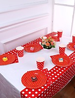 cheap -Birthday Party Party Tableware - Table Runners Polka Dot Plastics Classic Theme