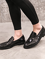 cheap -Men's Shoes Pigskin Spring Comfort Loafers & Slip-Ons for Casual Black Burgundy