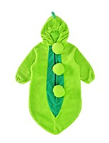 Недорогие -малыш Универсальные 1 предмет Повседневные Праздники Хлопок Контрастных цветов Зима Осень Рукав до локтя Активный Зеленый