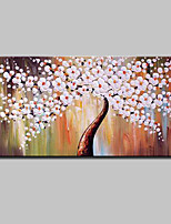 cheap -Hand-Painted Abstract Floral/Botanical Horizontal, Modern Oil Painting Home Decoration One Panel