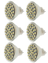 abordables -SENCART 6pcs 2W 140-180lm MR11 Spot LED MR11 30 Perles LED SMD 3528 Décorative Blanc Chaud Blanc Froid Jaune 12V