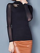 abordables -Mujer Básico Camiseta Un Color
