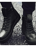 abordables -Homme Chaussures Polyuréthane Printemps Automne Confort Basket pour Décontracté De plein air Blanc Noir Noir/blanc