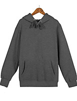 cheap -Men's Simple Long Sleeves Hoodie - Solid Colored