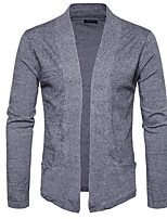 cheap -Men's Simple Long Sleeves Cardigan - Solid Colored Shirt Collar