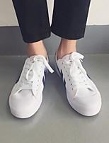 preiswerte -Herrn Schuhe Leinwand Frühling Herbst Komfort Sneakers für Normal Schwarz Rot Weiß/Blau