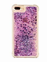 cheap -Case For Apple iPhone X iPhone 8 Plus Shockproof Glitter Shine Back Cover Color Gradient Glitter Shine Soft TPU for iPhone X iPhone 8