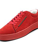 abordables -Homme Chaussures Polyuréthane Cuir Nubuck Printemps Automne Confort Basket pour Décontracté Noir Gris Rouge